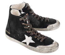 High Top Sneaker aus Canvas  // Francy Black Canvas Milk