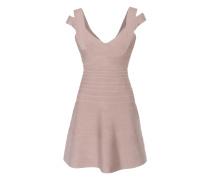 Ausgestelltes Bandagen-Stretch-Kleid  // Refined Straps Nude