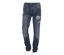 Slim-Fit Jeans mit Patches  // Geno Relaxed Slim Urban Dweller