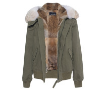 Jacke mit Fell-Futter  // Coyote Short Olive