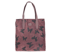Bedruckter Verloursleder-Shopper  // Amelia Butterfly Shopper Rose