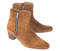 Veloursleder-Boots  // Stack Brown