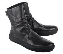 Glattleder-Boots mit Reißverschluss  // Pedrosoft Leather Black