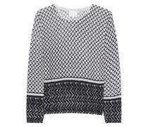 Gemusterter Woll-Pullover  // Nicole Kufiya Off-White