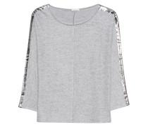Feinstrick-Pullover mit Metallic-Details  // Effi Grey