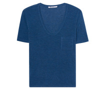 Meliertes T-Shirt  // Tee Classic Cropped Blue