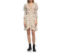 Florales Mini-Kleid mit Puff-Ärmeln