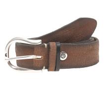 Leder-Gürtel im Used-Look  // Used Leather Brown