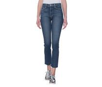 Straight Leg Jeans mit Fransensaum  // Jacqueline Straight Axel