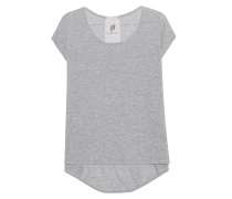 Baumwoll-Kaschmir-Top  // Capely Light Grey Melange