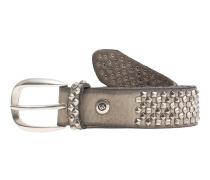Ledergürtel mit Nieten  // Vintage Stud Beige