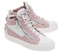 Mittelhohe Leder-Sneakers  // May London Bianco