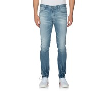 Washed-Out Slim-Fit Jeans