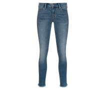 Skinny-Jeans mit Strass-Details