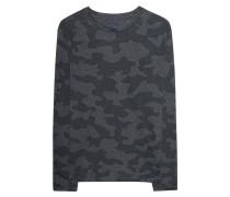Gemusterter Baumwoll-Mix-Sweater  // Sweat Camo Multicolor