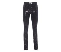 Paillettenbesetzte Hose  // Superskinny Glam Black