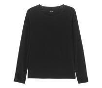 Langarm-Seidentop  // Basic Top Black