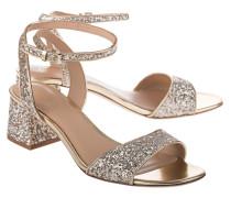 Sandaletten mit Glitterverzierung