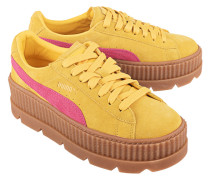 Veloursleder-Seakers mit Plateau  // Cleated Creeper Suede Yellow