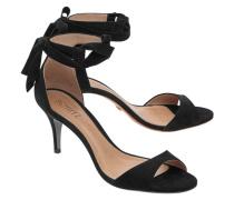 Nubukleder-Sandalette  // Rene Kitten Heel Black