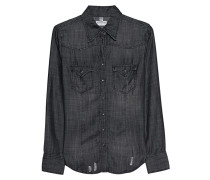 Bluse aus Lyocell  // Western Blouse Black