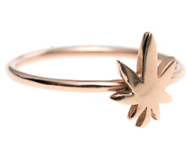 14 Karat Roségold-Ring  // Flower Power Rose Gold