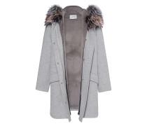 Woll-Kaschmir-Mantel mit Pelz-Besatz