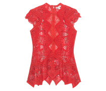 Spitzen-Top  // Lace Panel Red