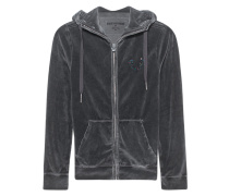 Hooded Zip Jacket Horseshoe Jet Black