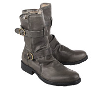 Leder-Stiefel mit Fell-Futter  // Eternity Lavagne Mustang Green