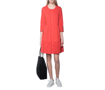 Baumwoll-Mix-Kleid  // Buttoned Up Red
