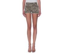 Denim-Shorts mit Camouflage-Musterung  // The Boyfriend Short Broken Camo