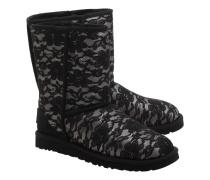 Lammfell-Boots mit Spitze  // Classic Short Antoinette Black