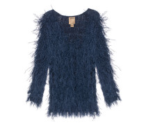 Knit Fringes Night Blue