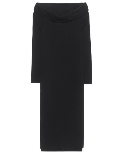 Jersey-Kleid  // Off Shoulder Black