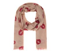 Fine Ring Pashmina Lips Red