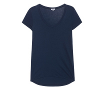 Baumwoll-Mix-T-Shirt  // Light Jersey Navy