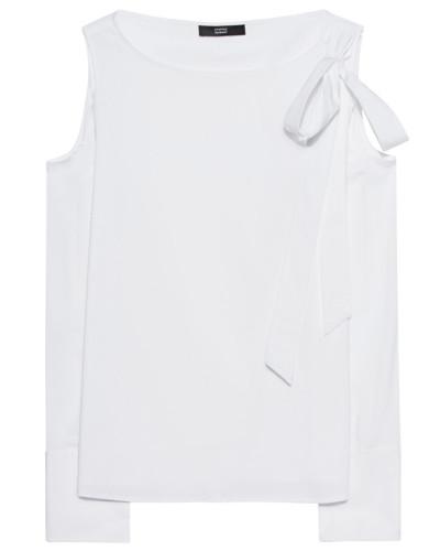 Bluse mit Cold-Shoulder-Cutout  // Cold Shoulder Stripes White