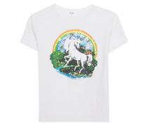 Baumwoll-T-Shirt mit Print  // Unicorn White