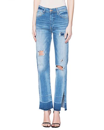 Gerade geschnittene Jeans mit Cut-Outs