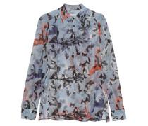 Gemusterte Semi-Transparente Bluse