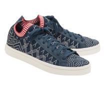 Flache Textil-Sneakers  // Court Vantage Primeknit Navy