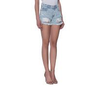 Destroyed High-Waist-Shorts  // Gina Sky Blue