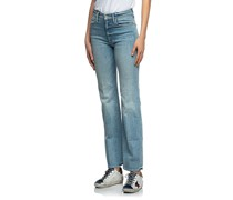 High-Waist Straight-Leg Jeans