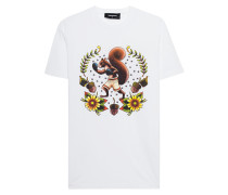 Baumwoll-T-Shirt mit Print  // Squirrel White