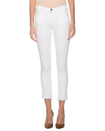 Skinny-Jeans mit ausgefranstem Saum