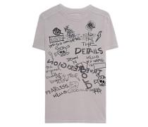 Baumwoll-T-Shirt mit Print  // Crew Neck Artwork Sand