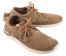 Flache Veloursleder-Sneakers  // Low Maliseet Shaman Beige