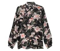 Gemusterte Bluse mit floralem Print