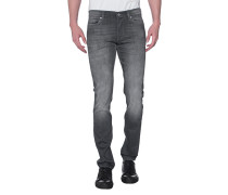Slim-Fit Jeans im Washed-Look  // Ronnie Luxe Performance Huntley Grey